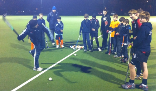 Oxford Hockey Club academy training session
