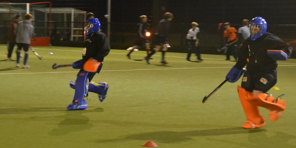 Goalkeeper training at Oxford Hockey Club's academy