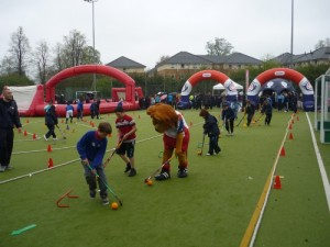 One of our home pitches, at Oxford Brookes University, on the day we hosted 'The Big Dribble' GB Hockey's Roadshow