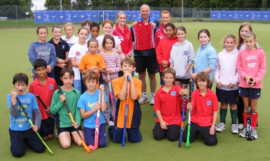 Junior Club Day 2011, with international guest players Nic White and Susie Gilbert